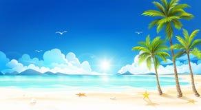 Praia tropical Vetor Fotos de Stock