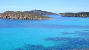 Praia Tuerredda em Sardinia, Itália Foto de Stock Royalty Free