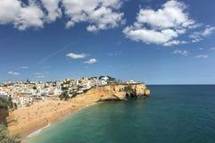 Praia tun Carvoeiro-Panorama Stockfotos