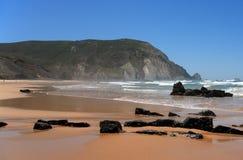 Praia tun Castelejo, Strand, Sagres Lizenzfreies Stockbild
