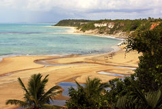 Trancoso - brasilianischer tropischer Strand Stockfotografie