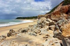 Trancoso - brasilianischer tropischer Strand Stockbilder