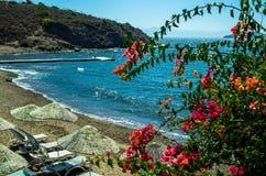 Praia turca celestial de Gumusluk Imagem de Stock