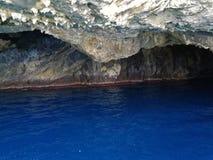 Praia una yegua - cueva azul Imagenes de archivo