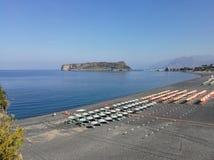 Praia une jument - panorama de la plage de Fiuzzi Photo stock