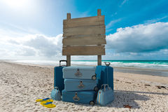 A praia vacations sinal Fotos de Stock