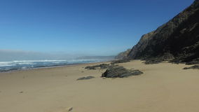 Praia Vale Figueiras Portugal. Praia Vale Figueiras in Portugal stock video