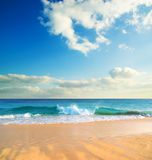 Praia vazia. Fotografia de Stock