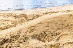 Praia vazia da areia Fotos de Stock
