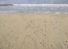 Praia vazia na Espanha de Cambrils Fotografia de Stock Royalty Free