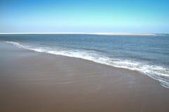 Praia vazia na ilha de Bazaruto Fotos de Stock