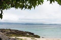 Praia vazia no Rias Baixas Imagens de Stock