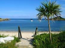 Praia velha da cidade, St. Mary, ilhas de Scilly. Imagens de Stock Royalty Free