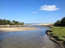 Praia velha do pomar, Maine imagem de stock