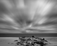 Praia ventosa Imagens de Stock