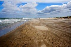 Praia ventosa dinamarquesa Foto de Stock