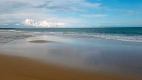 Praia Verde, panorama de Oceano Atlântico foto de stock