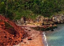 Praia vermelha Imagem de Stock Royalty Free