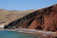 Praia vermelha Fotografia de Stock