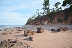 Praia vermelha Fotos de Stock