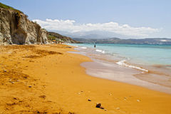 Praia ?Xi? no console de Kefalonia em Greece Foto de Stock Royalty Free