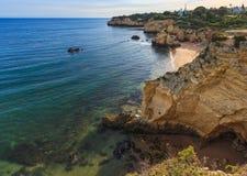 PraiaDOS Beijinhos Lagoa, Portugal Fotografering för Bildbyråer
