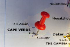 Praiahauptstadt von Kap-Verde in Atlantik Stockfotografie