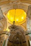 Praiano Amalfi church Piazza San Gennaro. Interior Praiano Amalfi church San Gennaro Royalty Free Stock Images