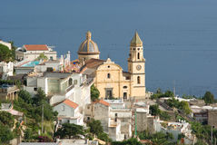 Praiano church of San Gennaro Royalty Free Stock Photo