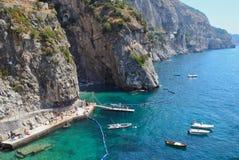 Praiano near Positano, Amalfi Coast Italy Royalty Free Stock Photography