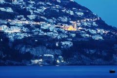 Praiano panorama with San Gennaro Church Stock Photography