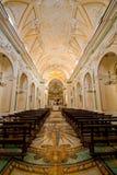 Praianoamalfi kerkpiazza San Gennaro Royalty-vrije Stock Afbeeldingen