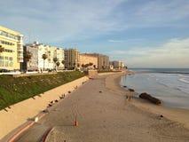Praias amarelas da areia foto de stock royalty free