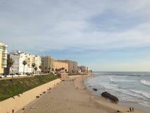 Praias amarelas da areia fotos de stock royalty free