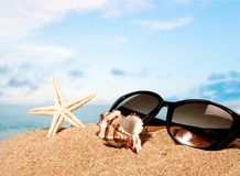 Praias, areia, sol Fotografia de Stock Royalty Free