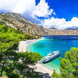 praias bonitas de Grécia, Karpathos Fotos de Stock