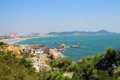 Praias bonitas em Qingdao foto de stock royalty free