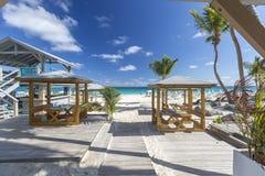 Praias das caraíbas bonitas de St Martin, Sint Maarten Cari Fotos de Stock Royalty Free