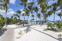 Praias das caraíbas bonitas de St Martin, Sint Maarten Cari Imagem de Stock