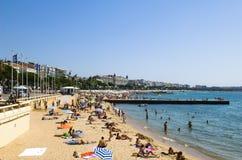 Praias de Cannes imagem de stock