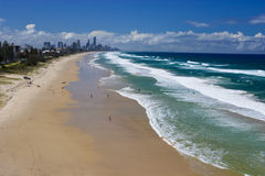 Praias de Gold Coast Fotos de Stock Royalty Free