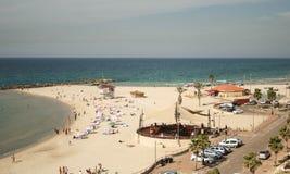 Praias de Netanya Israel Fotografia de Stock