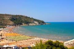 Praias de Peschici, Italy Imagem de Stock Royalty Free