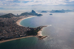 Praias de Rio de janeiro de cima de Fotografia de Stock