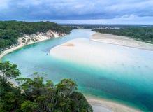 Praias e entradas bonitas de Austrália fotografia de stock