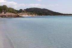 Praias em Córsega Fotografia de Stock