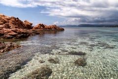 Praias em Córsega Fotografia de Stock Royalty Free