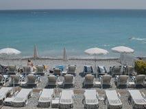 Praias em Cannes fotos de stock
