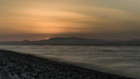 Praias turcas à vista do por do sol imagens de stock royalty free
