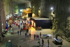 Praid从特兰西瓦尼亚的盐矿 免版税库存图片
